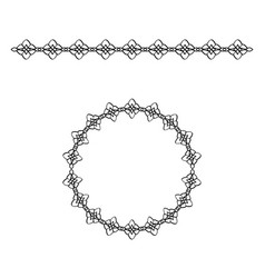 Border with rhombus and circle frame vector