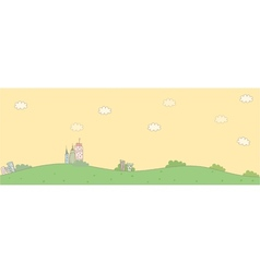 Cute idyllic landscape vector