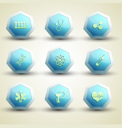 Medical care icons set vector