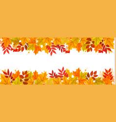 Nature autumn frame vector
