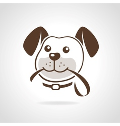 Dog with leash vector