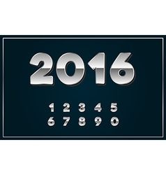 2016 Sign in Chrome or Silver in vector image