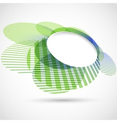 Bright green round advertisement template vector