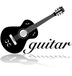 Classic guitar vector image