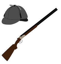 Rifle and hat vector