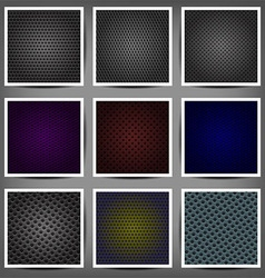 Set of metal backgrounds vector