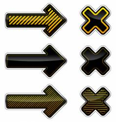 Arrows and crosses vector