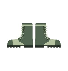 Old military boots leather combat soldier footwear vector