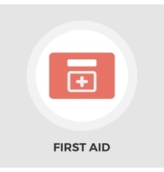 First aid flat icon vector