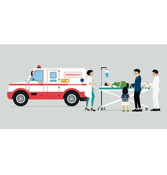 Emergency vehicles vector