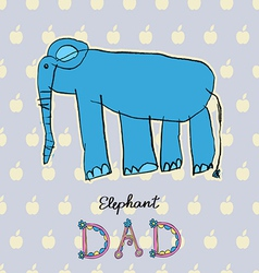 Abstract background children art elephant vector