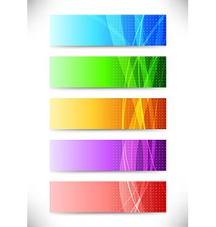 Abstract web headers - collection of cards vector image