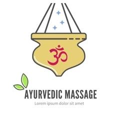Ayurveda shirodhara treatment logo vector