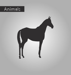 Black and white style icon of horse vector