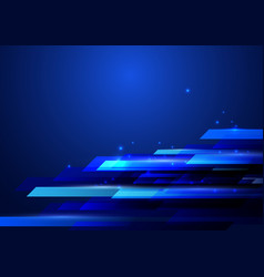 blue abstract shiny hi-tech motion geometric vector image