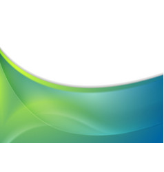 blue and green abstract wavy background vector image