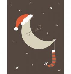 christmas moon vector image vector image