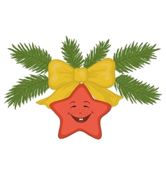 christmas star vector image vector image