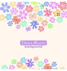 Colorful flowers background vector