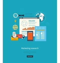 Concepts for business analytics strategy planning vector image