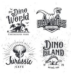 Dinosaur Logo Set Triceratops t-shirt vector image vector image