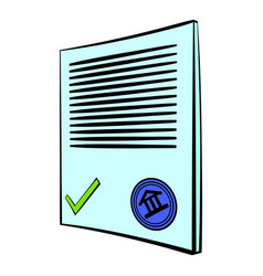 document icon cartoon vector image vector image