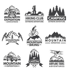explorer labels set travel pictures vector image