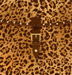 Fashion bag leopard vector