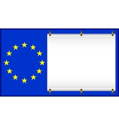 flag eu vector image vector image