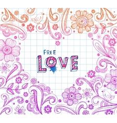 Heart shape frame vector image vector image
