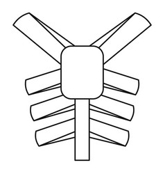 human thorax icon outline style vector image