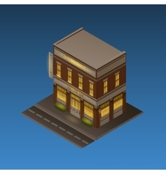 Isometric Night Scene vector image
