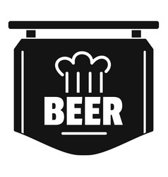 label of beer icon simple style vector image
