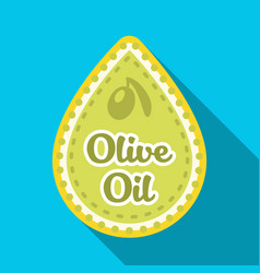 Label of olive oilolives single icon in flat vector