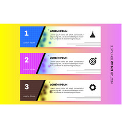 layered horizontal infographic steps vector image