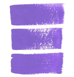 Lilac ink brush strokes vector image vector image