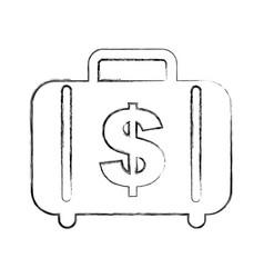 Money portfolio isolated icon vector