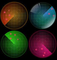 radar set with targets in process navigation hud vector image vector image