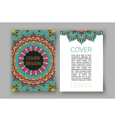 Ramadan brochure pages ornament vector image