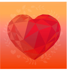 Romantic background heart with colorful gradient vector