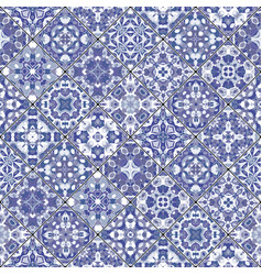 Seamless pattern of square mosaics vector
