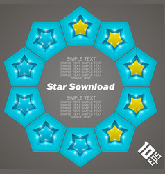 star download vector image vector image