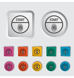 start stop button vector image