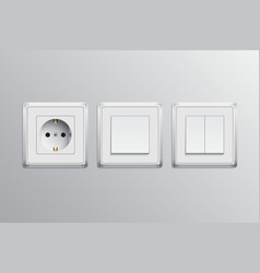 swithes and socket vector image