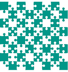 Teal puzzle pieces - jigsaw - field chess vector