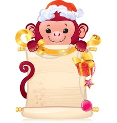 The Red Fire Monkey - symbol of the new 2016 year vector image vector image
