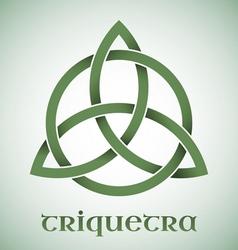 Triquetra symbol with gradients vector image vector image