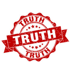truth stamp sign seal vector image vector image