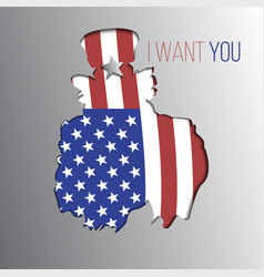 Uncle sam want you silhouette vector