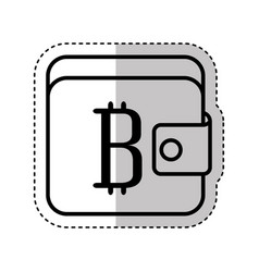 Wallet with bitcoin symbol vector